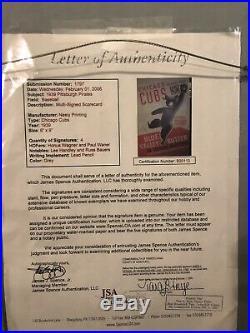 Honus Wagner Paul Waner Signed Autograph 1939 Chicago Cubs Scorecard JSA LOA