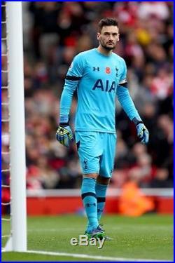 Hugo Lloris Worn Signed Special Edition Poppy Spurs Goalkeeper Shirt 1/2