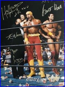 Hulk Hogan Kevin Nash Scott Hall Mean Gene Signed NWO 16x20 Photo JSA WWE WCW