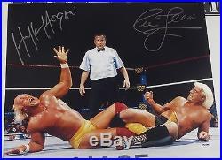 Hulk Hogan & Ric Flair Signed WWE 16x20 Photo PSA/DNA COA Picture Autograph WCW