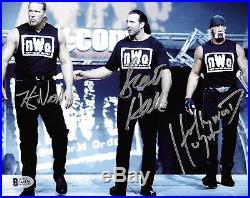 Hulk Hogan Scott Hall Kevin Nash Signed 8x10 Photo BAS Beckett COA WWE NWO WCW 1