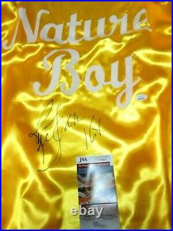 JSA Ric Flair Nature Boy Inscription Signed Autographed WWE Yellow Robe Wrestler