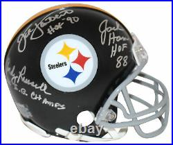 Jack Lambert Ham & Russell Signed Pittsburgh Steelers TB Mini Helmet BAS 28386