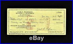 Jackie Robinson SIGNED SIGNATURE AUTO AUTOGRAPH Original Check! + 1948 Leaf RP