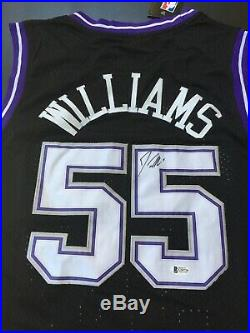 Jason Williams Signed Autographed Jersey Beckett Authenticated Kings Black