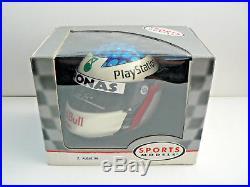 Jean Alesi SIGNED 1/2 half scale helmet, 1998 Sauber Formula 1, Bell Boxed COA