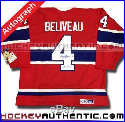 Jean Beliveau Signed Montreal Canadiens 1968 CCM Vintage Jersey