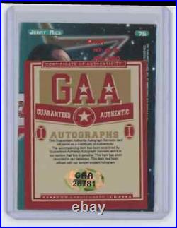 Jerry Rice 1998 Topps Stars #75 2209/8799 Signed Autographed