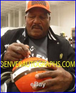 Jim Brown Autographed/Signed Cleveland Browns Full Size TK Helmet JSA 10029