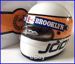 Jody Scheckter SIGNED 12 Half Scale Helmet. Ferrari, Tyrrell, Wolf. Formula 1