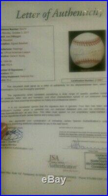 Joe DiMaggio signed baseball jsa