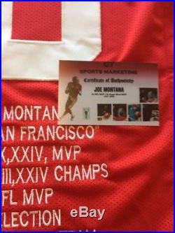 Joe Montana Signed Autograph Auto Jersey Coa Holo 49ers Rare Nfl Hof