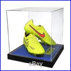 John Terry Signed Match Worn Yellow Nike Tiempos 2014/2015 Acrylic Case
