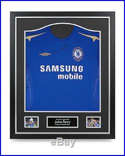 John Terry Signed Shirt Chelsea Framed Autograph Centenary Jersey Memorabilia