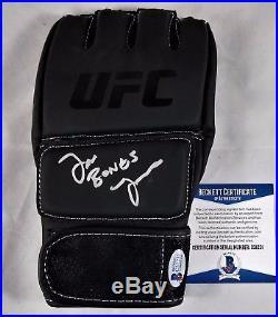 Jon BONES Jones Autographed Glove BAS COA Signed UFC 214 MMA Autograph Topps