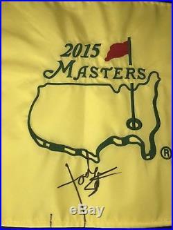 Jordan Spieth 2015 Masters Golf Pin Flag Signed JSA Full Letter RARE US Open