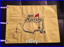 Jordan Spieth Signed 2015 Masters Flag PGA 2018 Masters Winner