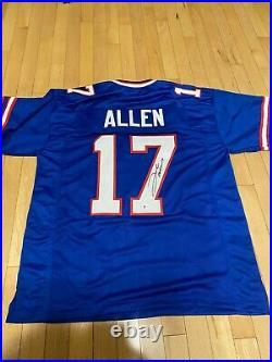 Josh Allen Authentic Signed Blue Custom Bills Jersey Autographed BAS Cert Auto