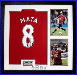 Juan Mata FRAMED & Signed Manchester United F. C. Jersey Genuine AFTAL COA