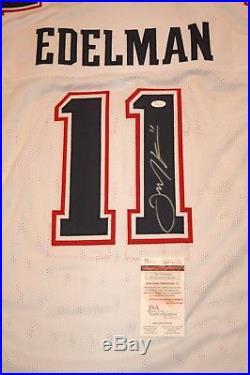 Julian Edelman New England Patriots Autographed Signed White Jersey XL Coa JSA