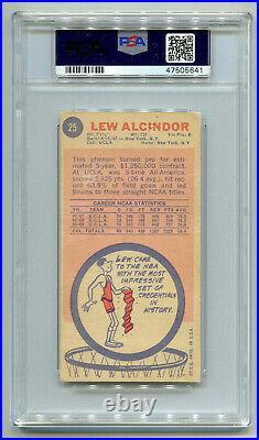 KAREEM ABDUL-JABBAR 1969-70 Topps Tallboy Auto Signed Rookie Card RC #25 PSA/DNA