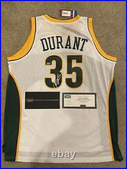 KEVIN DURANT Signed Autographed HWC SUPERSONICS Jersey PANINI COA Warriors Nets