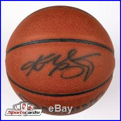 KOBE BRYANT AUTHENTIC Signed Full Size NBA Basketball PSA/DNA COA & BAS LOA