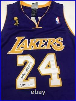 KOBE BRYANT Autographed 2009 NBA Finals Patch Authentic Jersey UDA LE 9/124