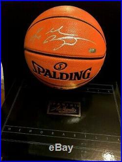 KOBE BRYANT Autographed Basketball PANINI COA Signed withFull Silver Signature