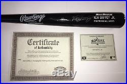 Ken Griffey Jr. Autographed (Signed) Baseball Bat Multiple COAs