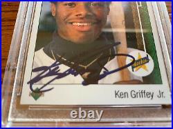 Ken Griffey Jr. RC 1989 Upper Deck #1 PSA 10 signed auto autograph HOF