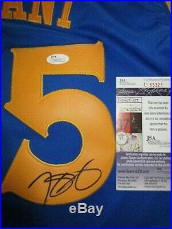 Kevin Durant Signed Autographed Golden State Warriors Jersey Jsa Coa U95321