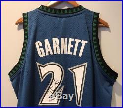 Kevin Garnett Autographed Timberwolves Signed HWC Auto Swingman Jersey (PSA/DNA)