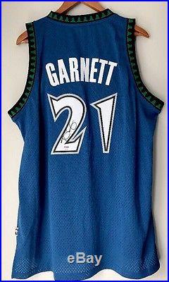 Kevin Garnett Autographed Timberwolves Signed HWC NBA Swingman Jersey (PSA/DNA)