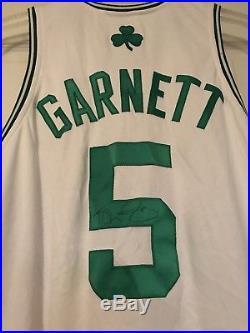 Kevin Garnett Signed Game Worn 2009-2010 Boston Celtics Home Jersey