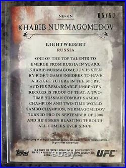 Khabib Nurmagomedov 2014 Auto # 5/50! Topps UFC Signed Autographed Card