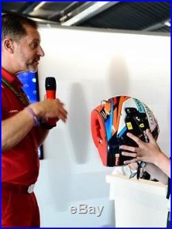 Kimi Räikkönen F1 2018 SIGNED Replica Helmet Full Scale UK Formula 1 Ferrari