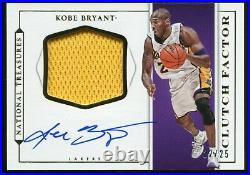 Kobe Bryant 2015-16 National Treasures Clutch Factor Auto Jersey # 22/25 Signed