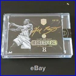 Kobe Bryant 2017-18 Panini Eminence Gold Auto Jersey # 8/10 Signed 1/1 Lakers SP