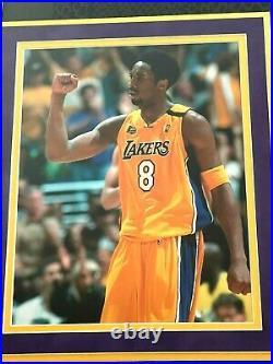 Kobe Bryant Autographed Nike City Black Swingman Jersey Framed With Panini Coa