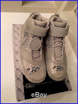 Kobe Bryant Dual Signed Nike FTB ZOOM II PANINI COA auto PSA DNA UDA