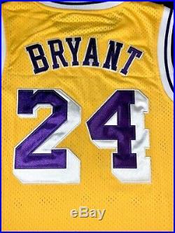 Kobe Bryant Lakers Signed Adidas Hardwood Classic Throwback Home Jersey