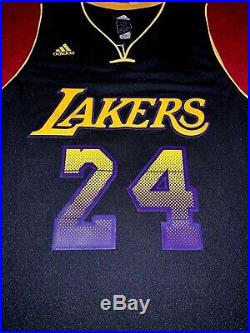 Kobe Bryant Lakers Signed Adidas Limited Edition Black Vibe Jersey