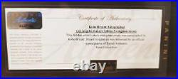 Kobe Bryant Los Angeles Lakers Signed Jersey Certificate By Panini Authentic