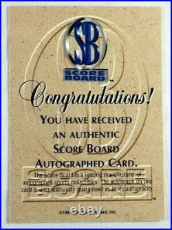 Kobe Bryant Rc 1996-97 Scoreboard Signed Autograph Rookie Auto La Lakers