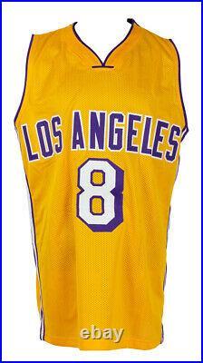 Kobe Bryant Signed Custom Yellow Pro Style Stat Basketball Jersey BAS