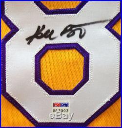 Kobe Bryant Signed Yellow Lakers #8 Jersey Autograph Full Signature PSA DNA coa