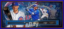 Kris Bryant Chicago Cubs Framed Signed Chandler Game Model Bat Collage Shadowbox