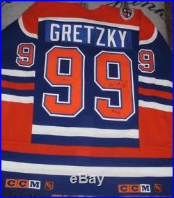 LE 99 Wayne Gretzky Edmonton Oilers Signed Patch Official Jersey UDA JSA AUTO