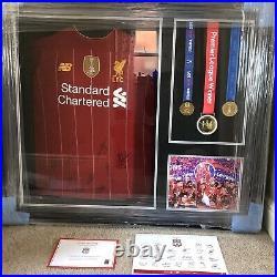 LFC Signed & Framed Liverpool FC Shirt Official COA
